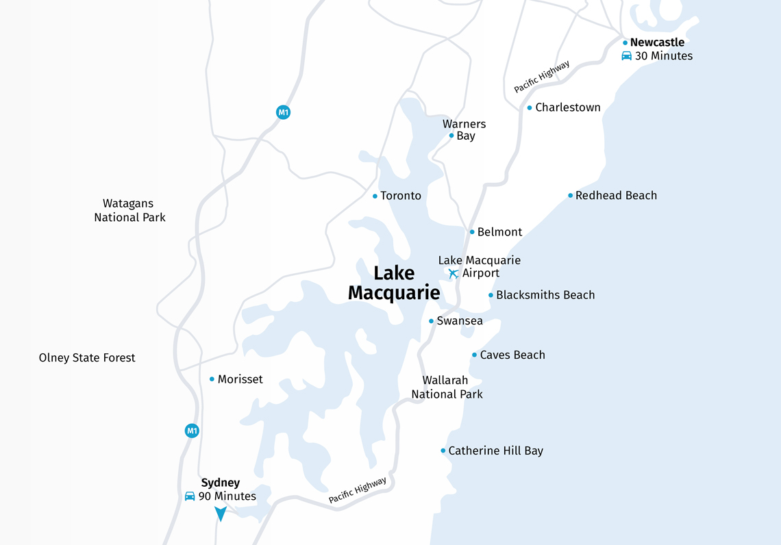 Lake Macquarie Map