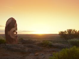 Scenic sunrise over Living Desert Sculptures - Broken Hill