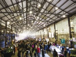 The Night Markets in the Carriageworks, Eveleigh during Vivid Sydney