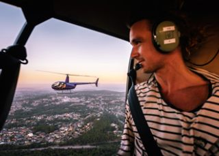 Scenic helicopter flight with Skyline Aviation