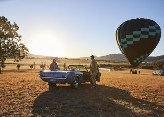 Hot air balloon in the Hunter Valley