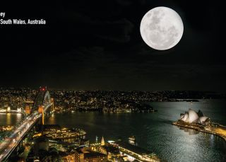 Sydney Harbour by moonlight