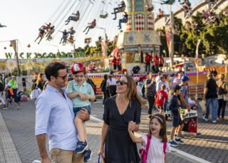 Family enjoying a day out at the 2019 Sydney Royal Easter Show, Sydney Showground at Sydney Olympic Park