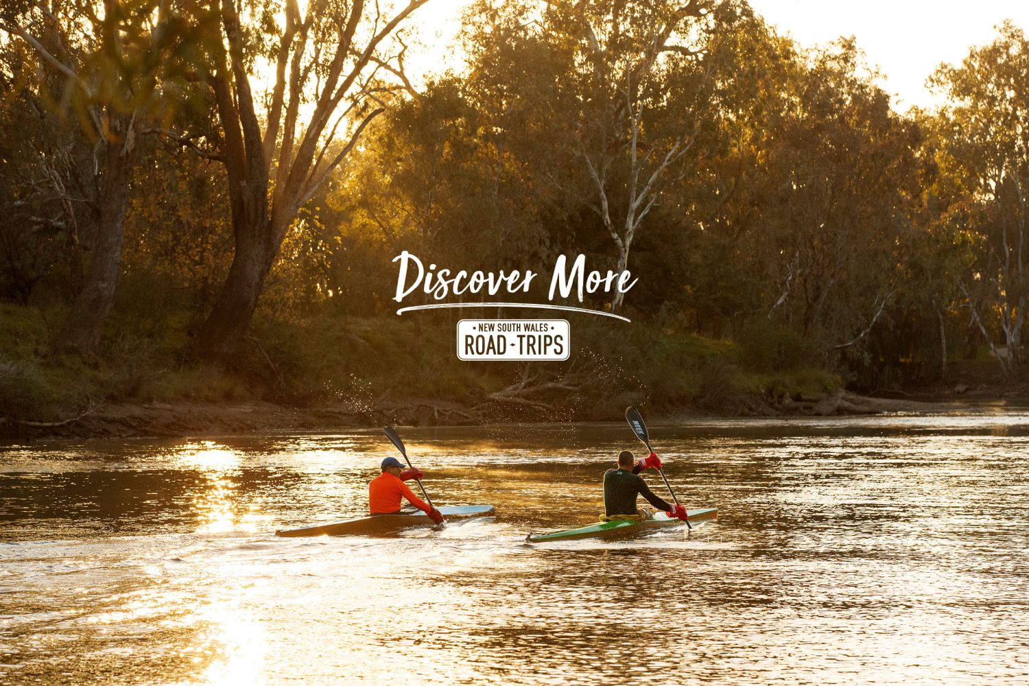 Morning kayak along the Murray River in Albury