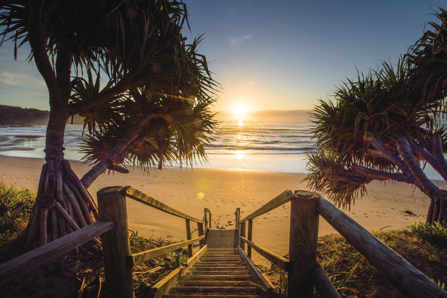 Sun rises over Diggers Beach in Coffs Harbour - North Coast