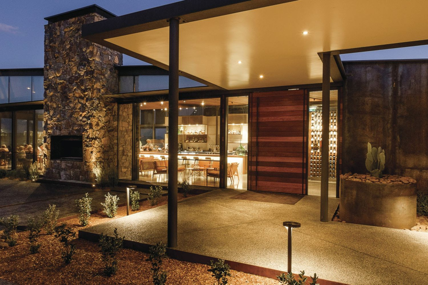 Glasshouse Restaurant's beautiful exterior design at Goonoo Goonoo Station, Tamworth