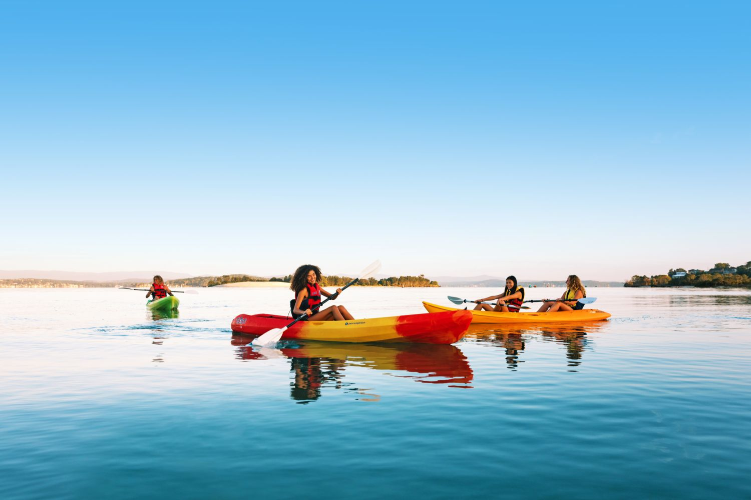 Kayaking on Lake Macquarie - Jetbuzz Watersports
