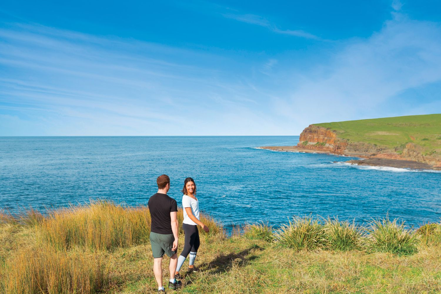 Couple on the Kiama Coast Walk, South Coast NSW