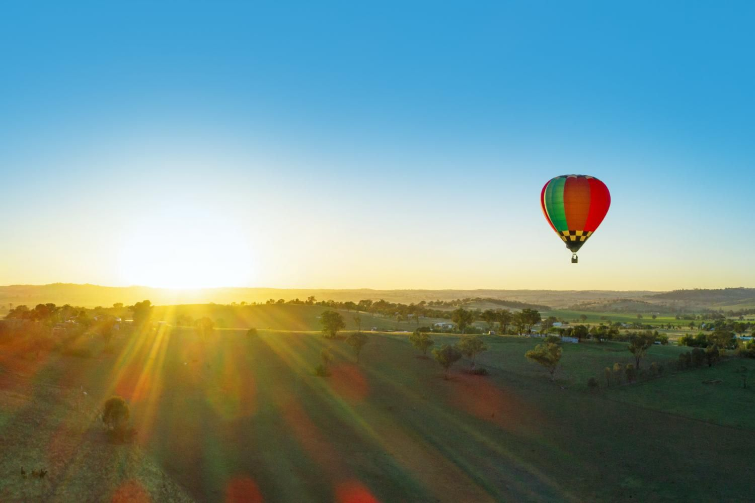 Hot air balloon over Orange, country NSW