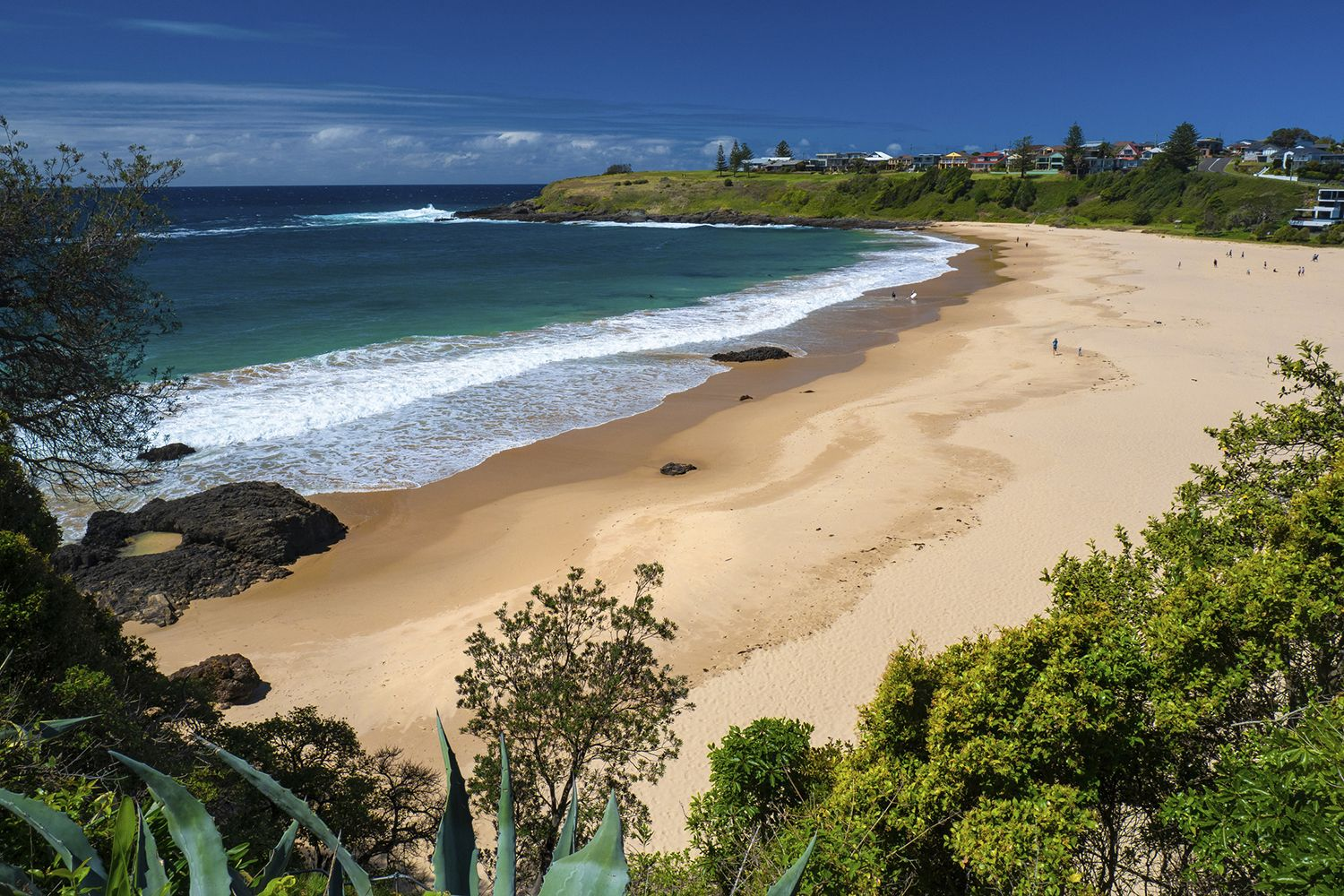 Scenic coastal views from Kendalls Beach, Kiama