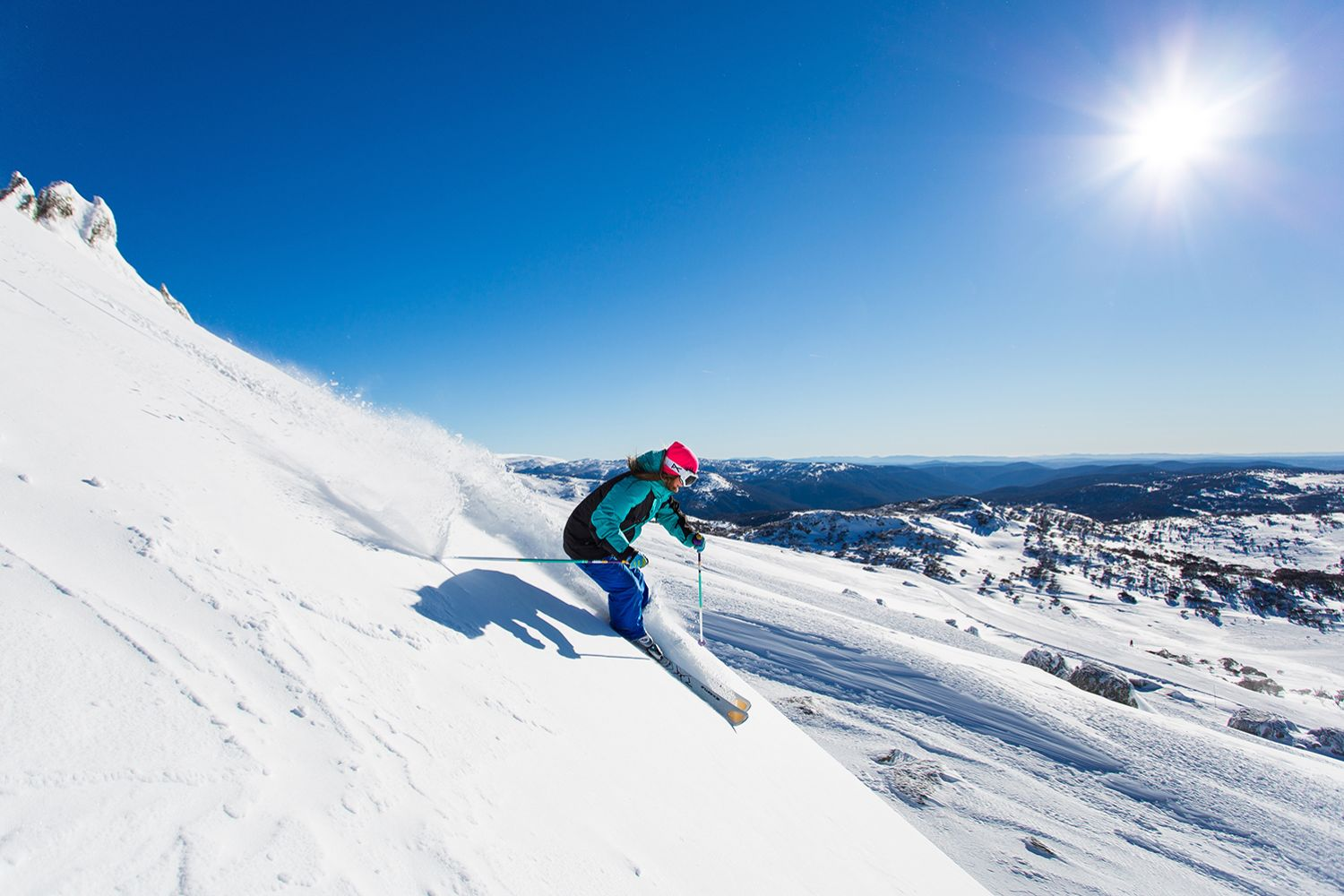 Skiing in Perisher, Kosciuszko National Park