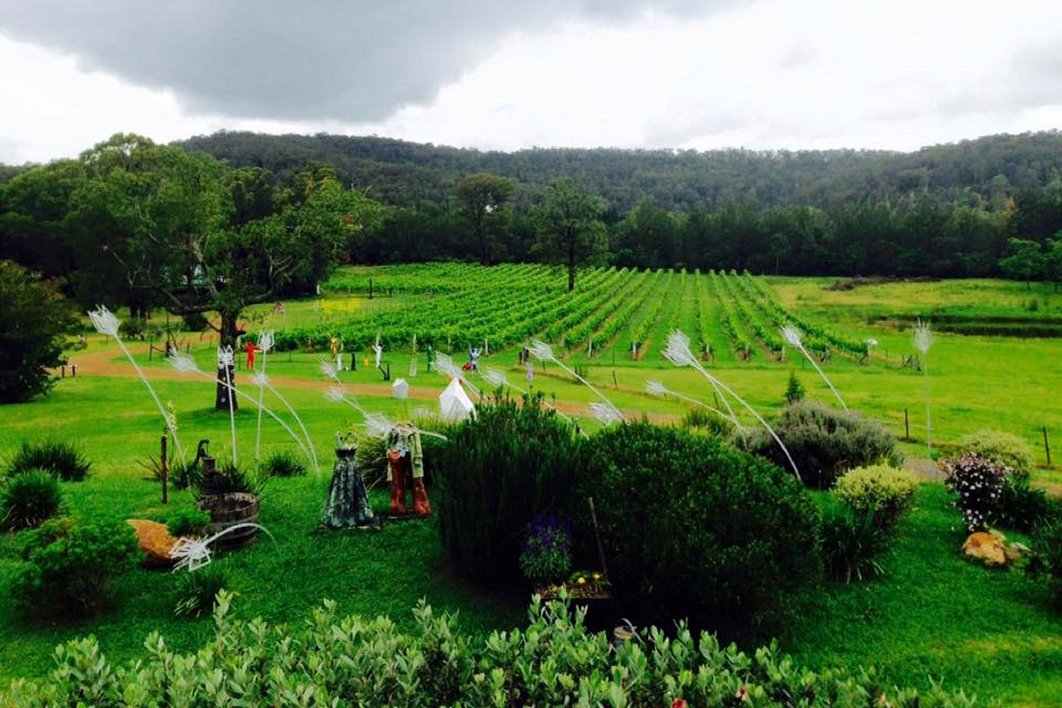 Sculptures at Wollombi Wines in Wollombi, Hunter Valley