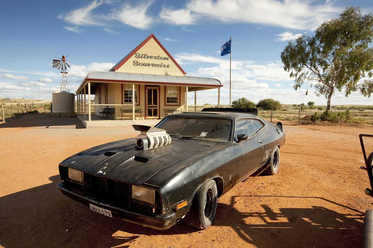 Mad Max Car at Silverton, Outback