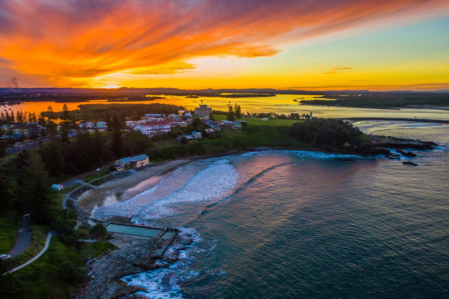 Sunset in Yamba, Clarence Valley, North Coast
