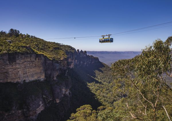 Scenic Skyway in Scenic World over Jamison Valley in the Blue Mountains