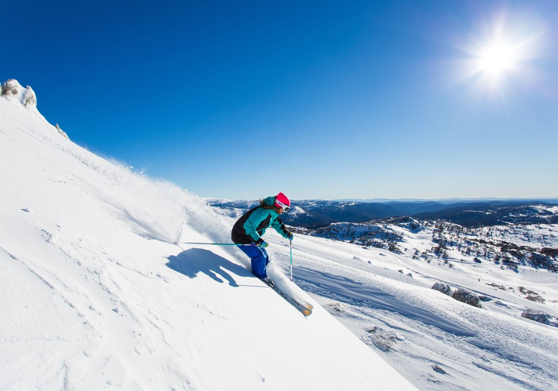 Skiing in Perisher - Snowy Mountains