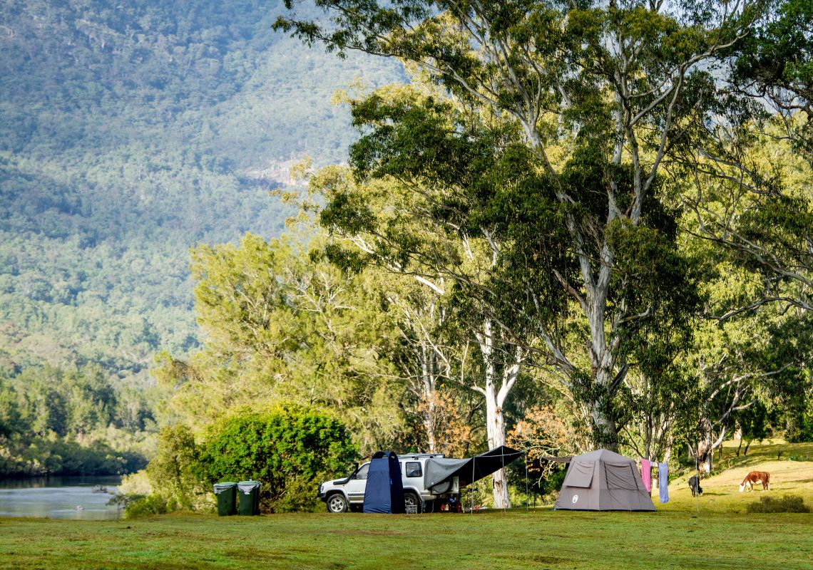 Campsite by the Macleay River in Bellbrook, Macleay Valley Coast