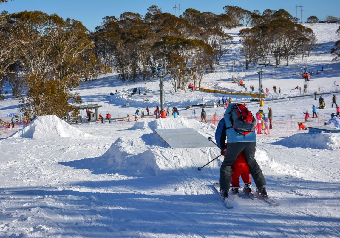 Mount Selwyn - learning to ski - Kosciuszko National Park