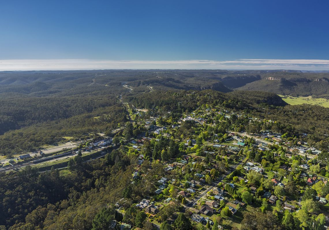 Mount Victoria - aerial shot - Blue Mountains