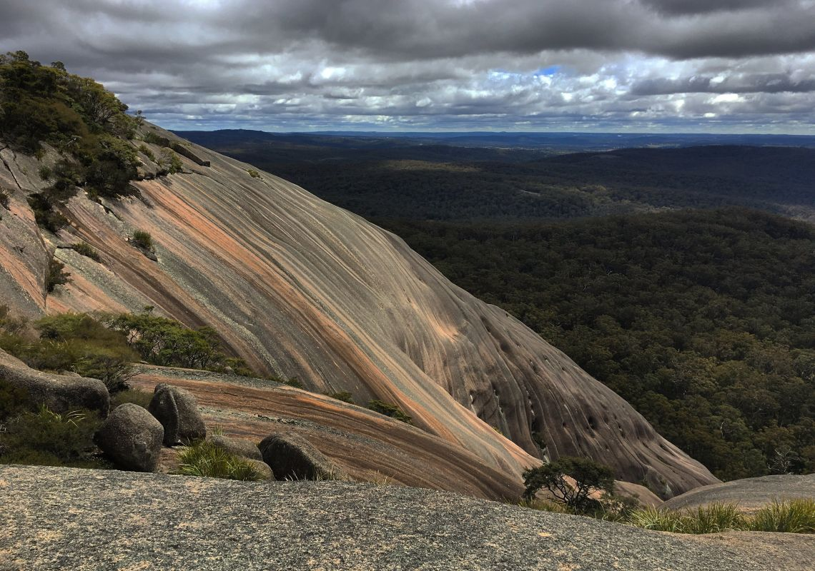 Australia's largest granite formation, Bald Rock National Park, near Tenterfield