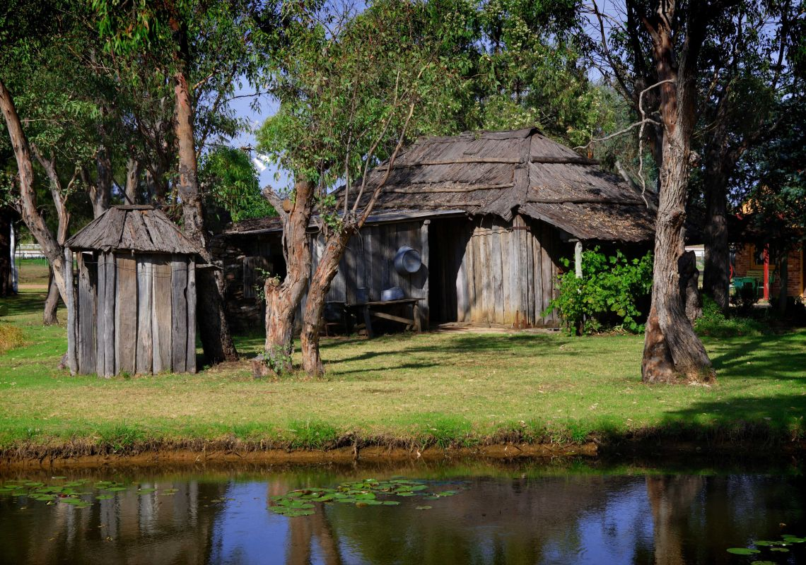 The 1841-built wooden Grove Homestead in Inverell Pioneer Village