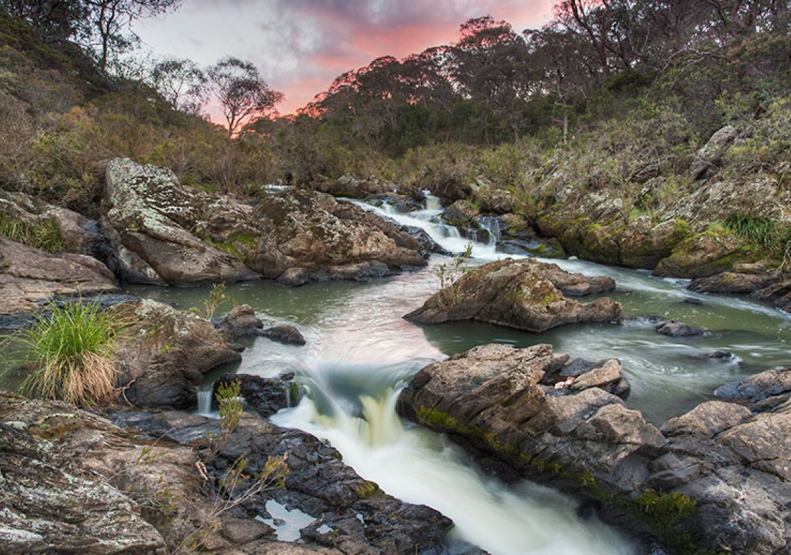 Tia River cascading to Tia Falls, Oxley Wild Rivers National Park