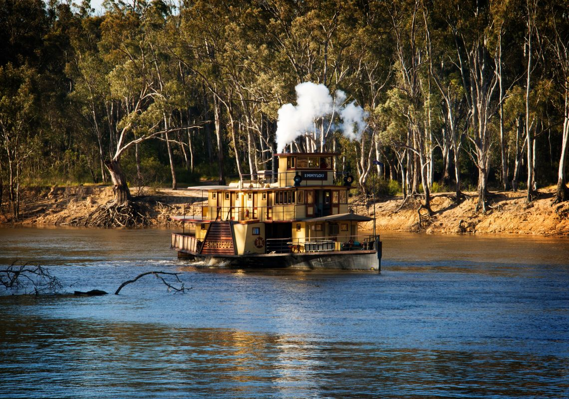 A paddlesteamer on the Murray River - Echuca