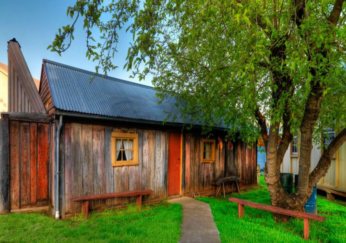 A wooden heritage cottage at the Temora Rural Museum, Riverina