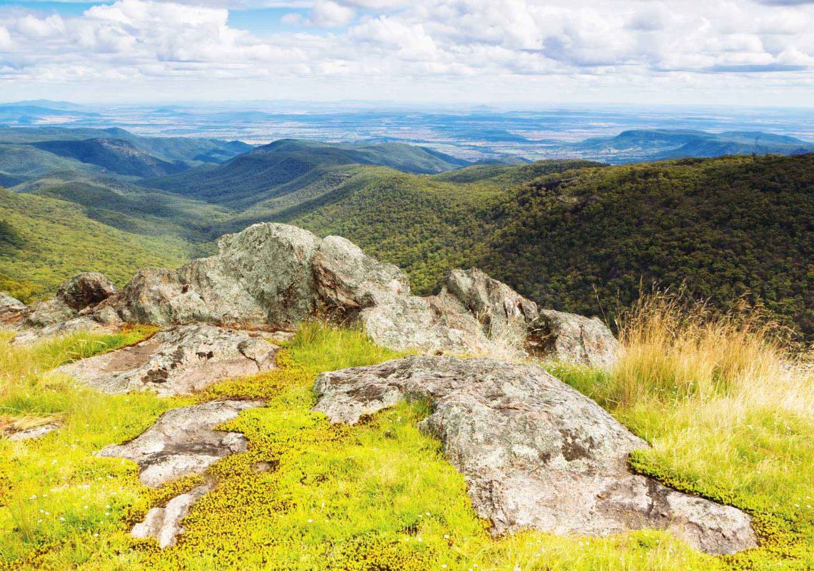 Scenic view of beautiful Mount Kaputar National Park, Northern NSW