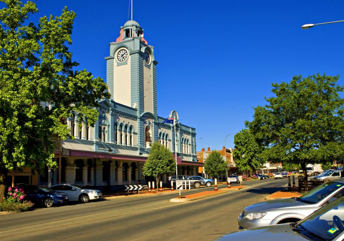 Town Hall on Boorowa Street, Young