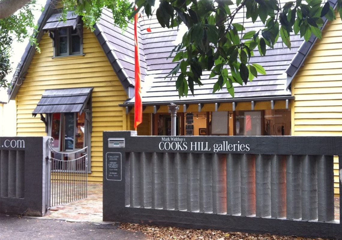 Street view of Cooks Hill Galleries, Newcastle