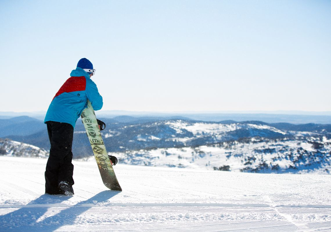 Taking in the view at Perisher - Snowy Mountains