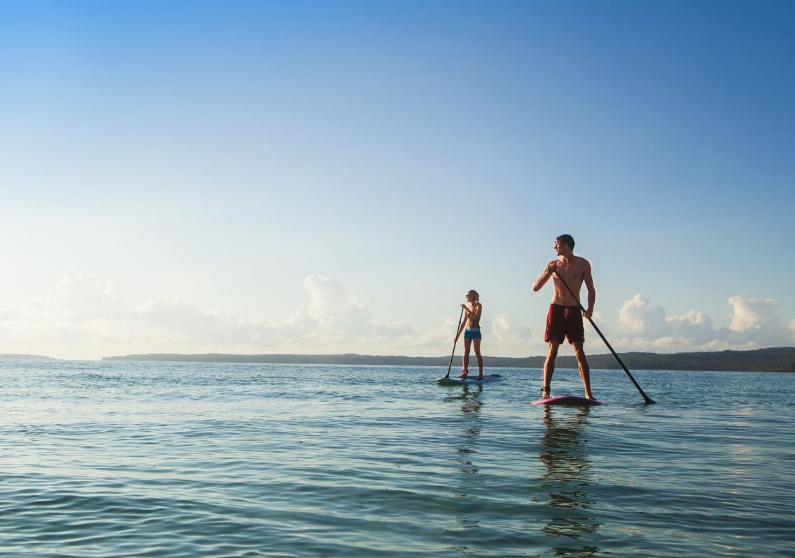 Stand-up paddle-boarding in Shoalhaven - South Coast