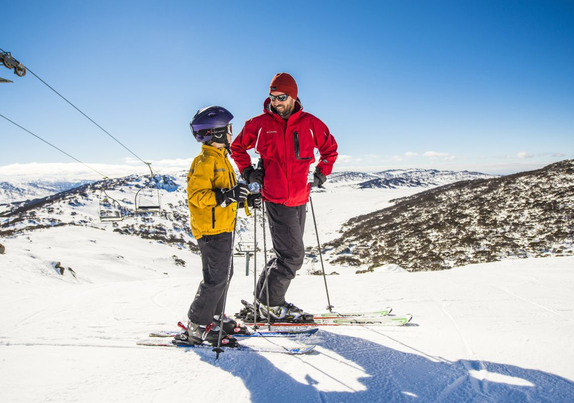 Ski lesson in Charlotte Pass