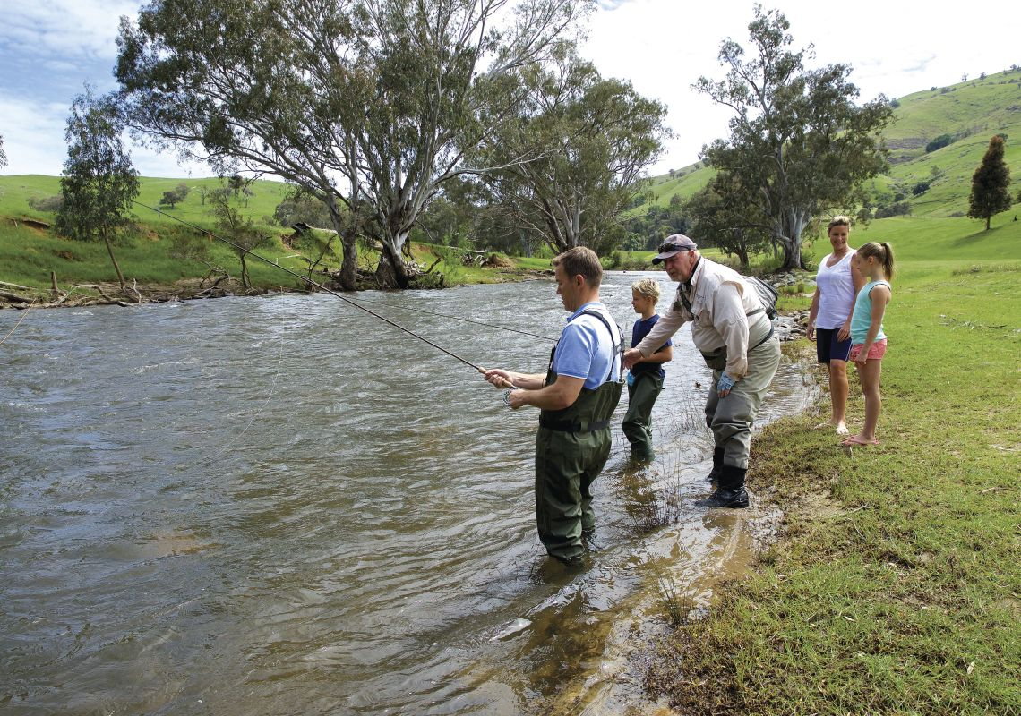 Fishing in Goobarragandra River - Tumut - Snowy Mountains