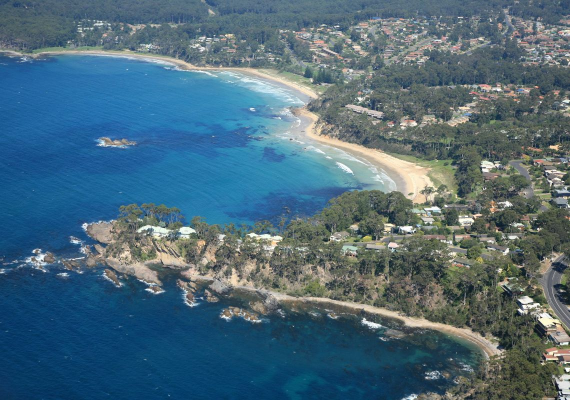 Aerial of Sunshine Cove - Batemans Bay Snorkelling Trail
