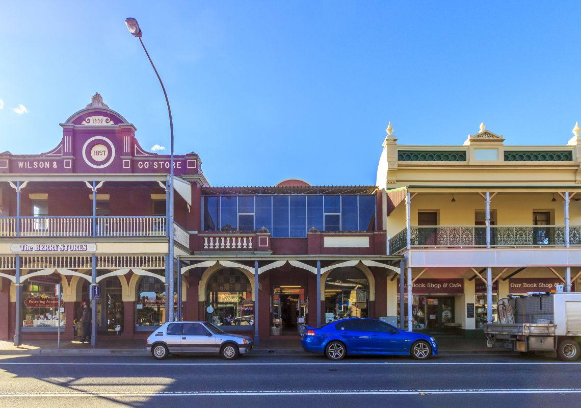 Shops in the gorgeous town of Berry, Shoalhaven