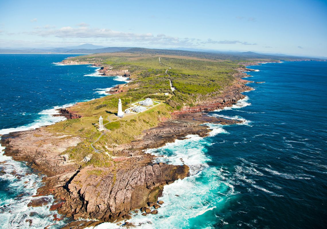 Green Cape from the air - Eden - Merimbula and Sapphire Coast