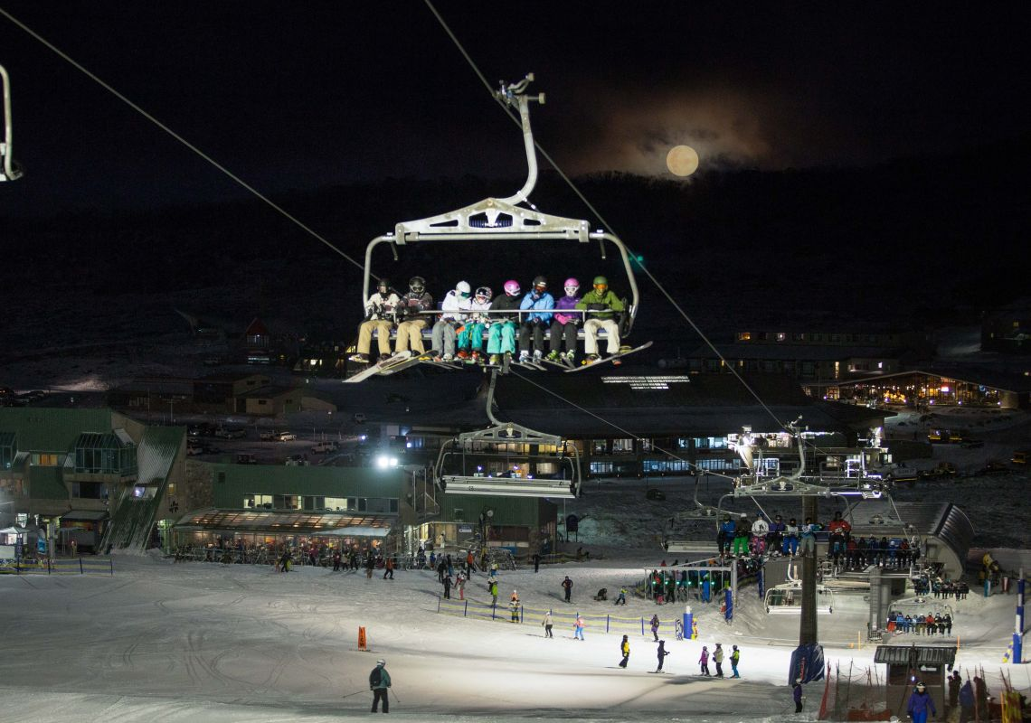 Perisher Night Skiing - Snowy Mountains
