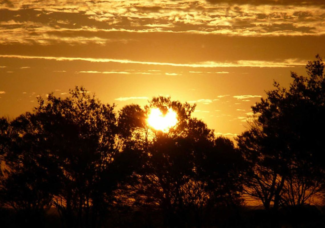 Sunset in Paroo-Darling National Park near White Cliffs