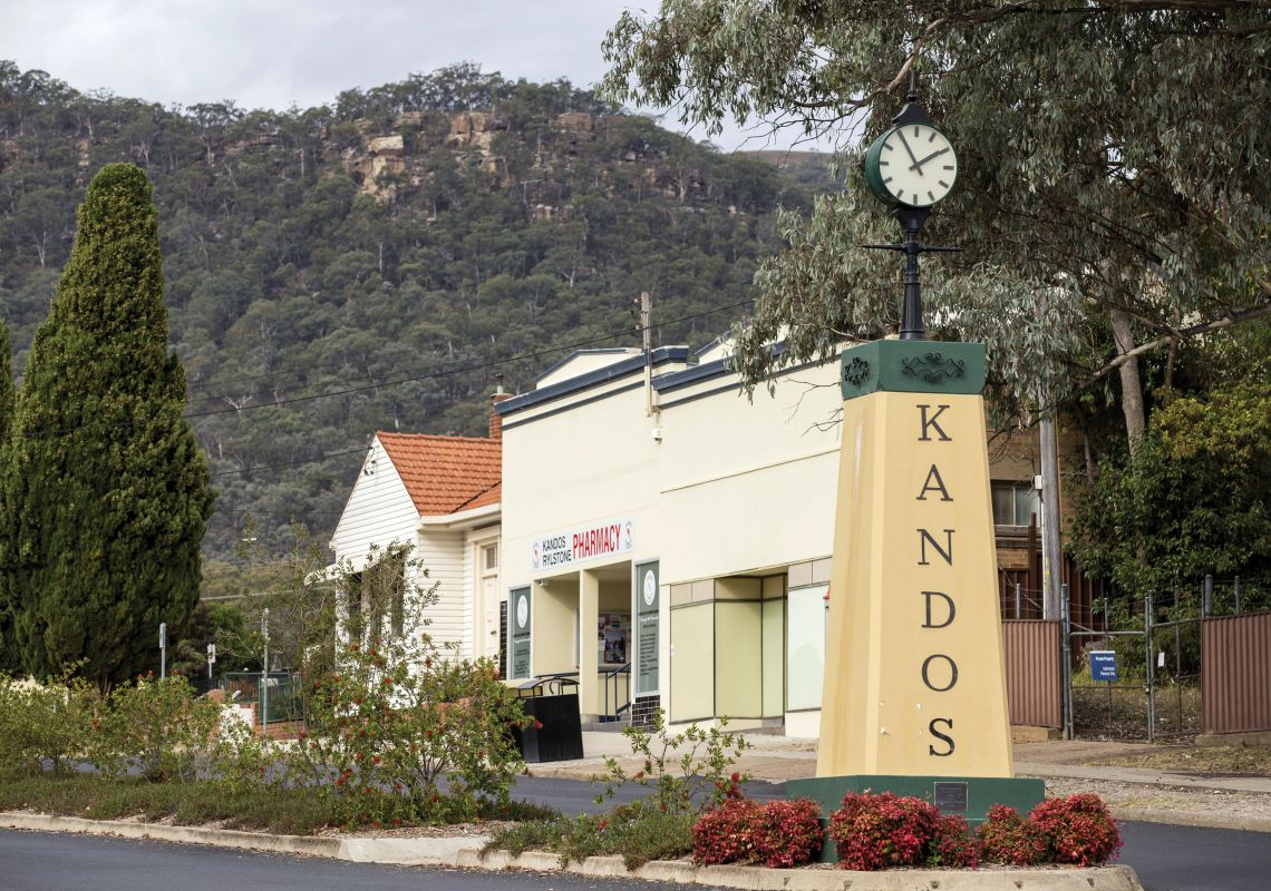 The Clock Tower on the main street in Kandos, NSW