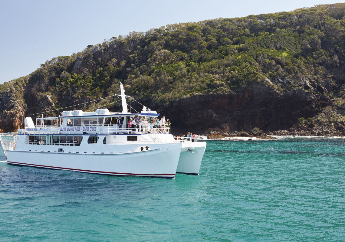 Whale and dolphin cruise boat, Port Stephens, Australia