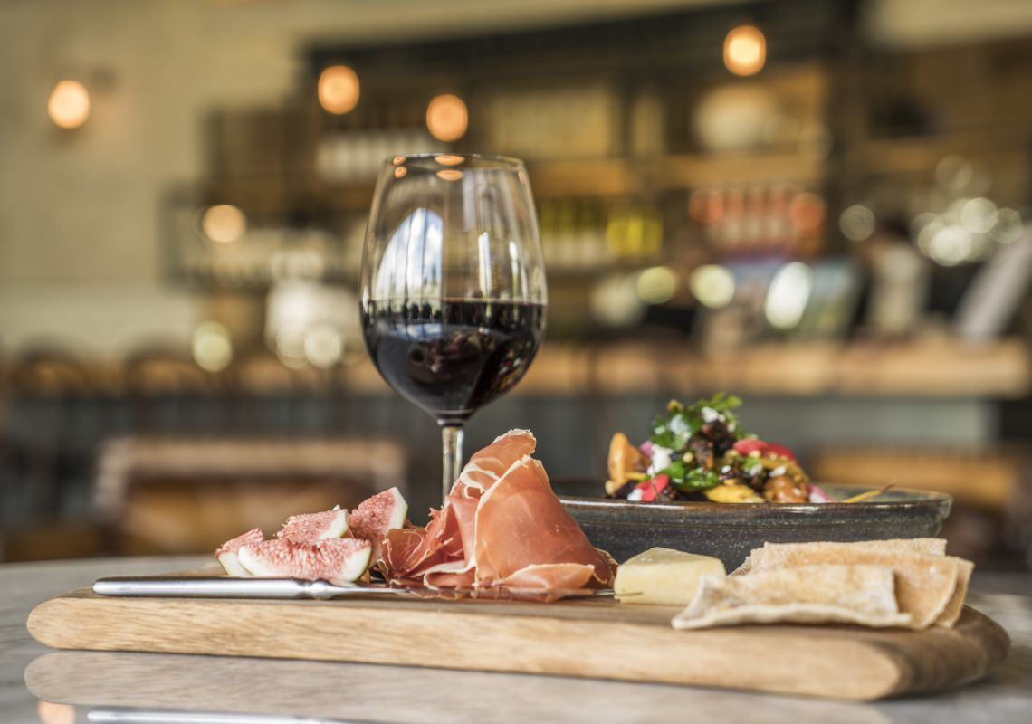 Food and wine available at Bendooley Estate, Berrima in the Southern Highlands.