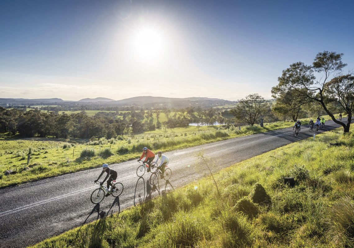 Cyclists competing in Bowral Classic 2016