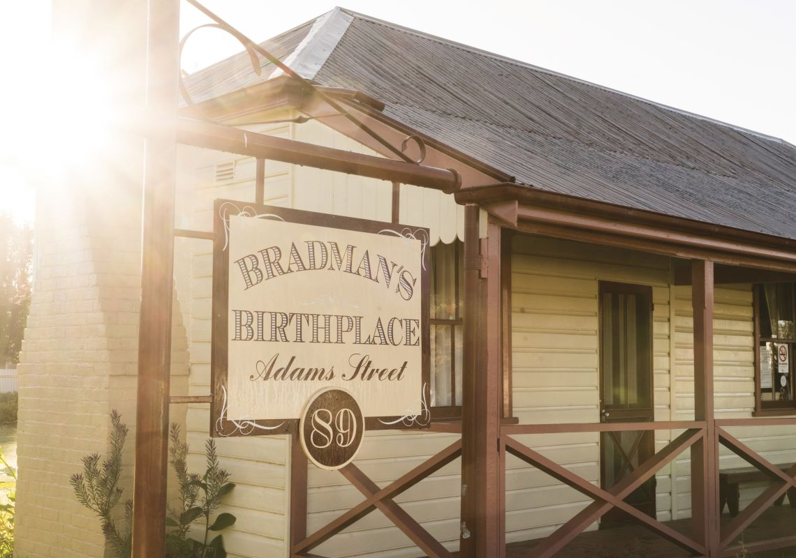 Exterior view of Sir Donald Bradman's Birthplace Museum, Cootamundra, NSW