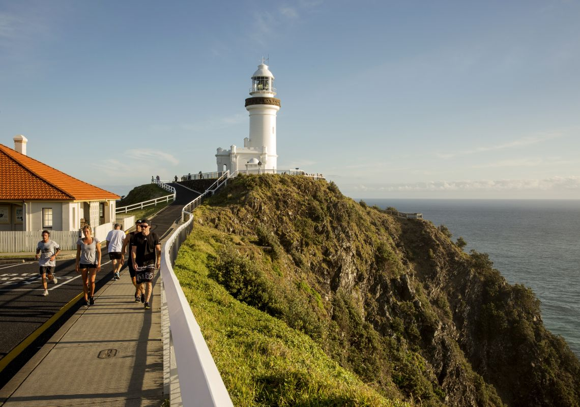 Walkers at Cape Byron Lighthouse, Byron Bay