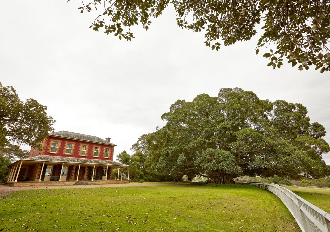 The historic two-storey Tocal Homestead in Paterson, NSW, Australia