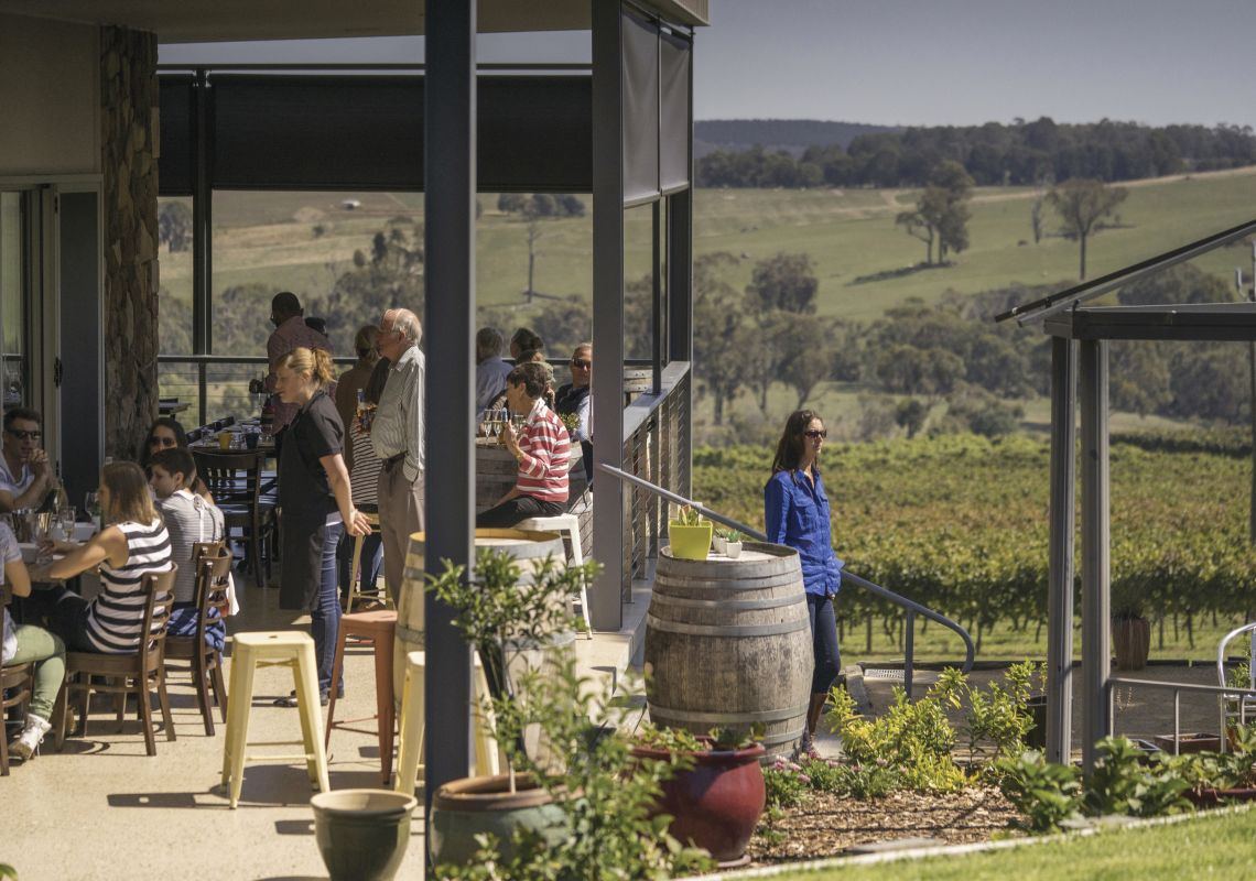 Courabyra Wines, Tumbarumba with scenic views over the vineyards