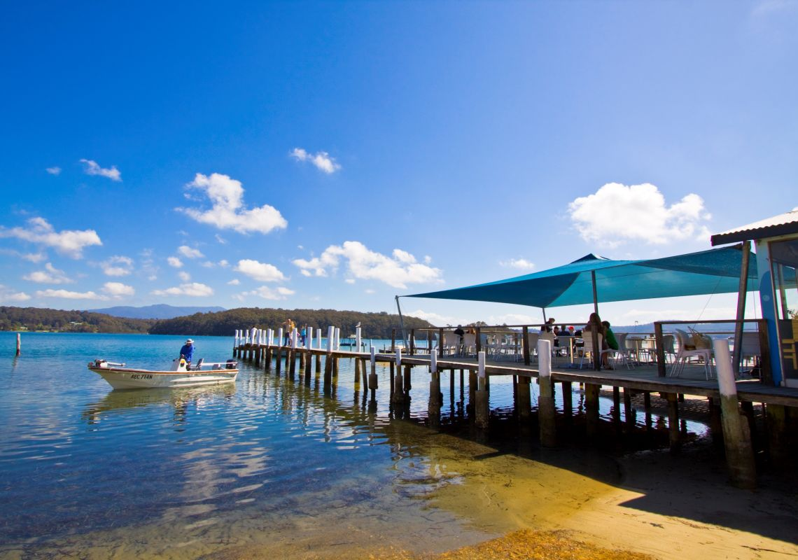 Wagonga Inlet Wharf in Narooma on the NSW South Coast