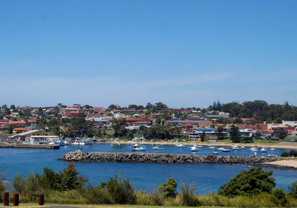 Ulladulla harbour from Kendall Cottage Rotary Park, South Coast